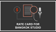 Rate Card for Bangkok Studio